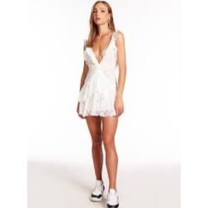 OU White Lace Mini Dress XL /an